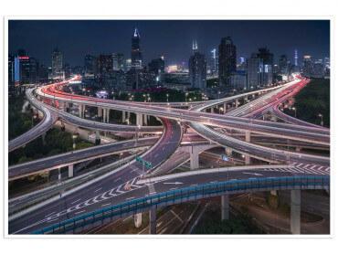 Affiche Déco Shanghaï Highway