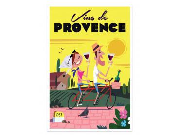 Affiche Illustration ViVe la ProVence