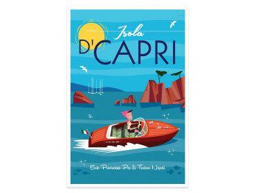 Affiche Illustration Voyage à Capri