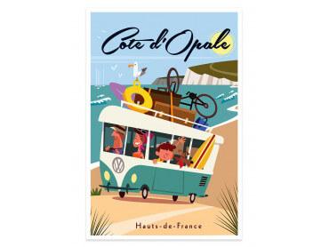 Affiche Road Trip sur la Côte d'Opale