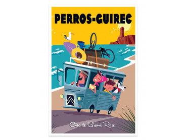 Affiche Road Trip à Perros Guirec