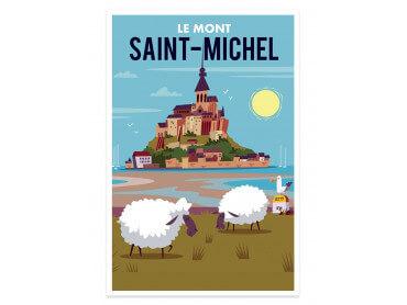 Affiche Balade au Mont Saint Michel