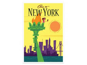Affiche Illustration Voyage à New York