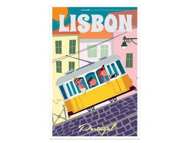 Affiche Illustration un Week end à Lisbonne