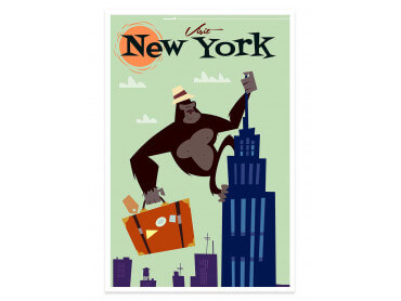 Affiche Illustration King- Kong