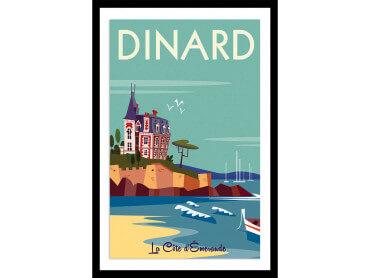 Affiche Illustration Voyage à dinard