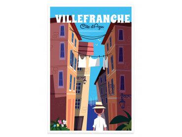 Affiche Illustration Villefranche Sur Mer