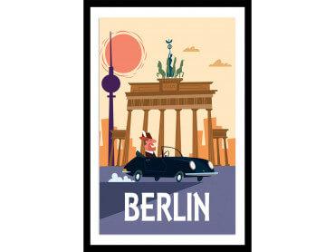 Affiche Illustration Un Week End à Berlin