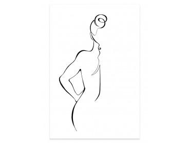 Affiche Dessin Croquis de femme