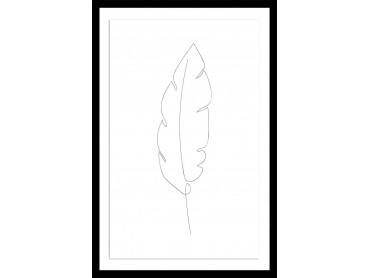 Affiche Dessin plume en croquis