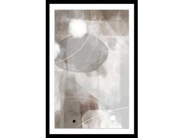 Affiche Déco Beige abstrait et soft line n°2