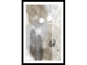 Affiche Déco Beige abstrait et soft line n°3