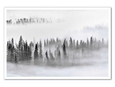 Affiche paysage brume sur les cîmes
