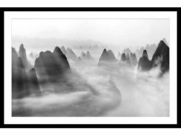 Affiche paysage Yangshuo au matin