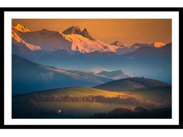 Affiche paysage Zoom sur le Pic du Midi d'Ossau