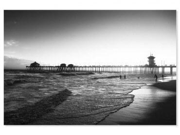Tableau paysage sunset huntington beach