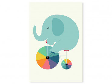 Tableau enfant elefant circle