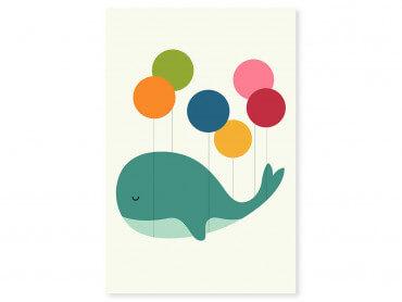 Tableau enfant baleine ballon
