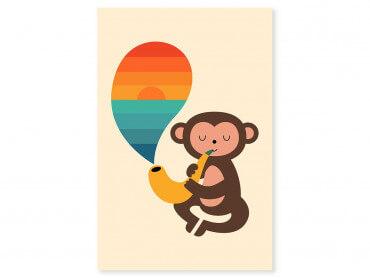 Tableau enfant monkey banana