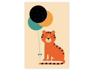 Tableau enfant circus tiger