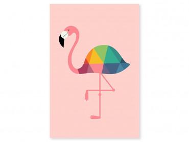 Tableau enfant flamingo so girly