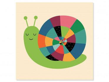 Tableau enfant rainbow escargot