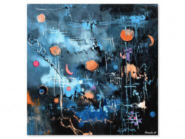 Tableau abstrait la nuit des étoiles