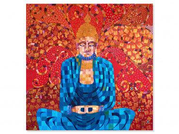 Tableau deco voyage en terre de bouddha