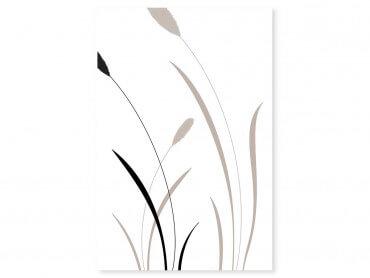 Tableau fleurs scandi blés