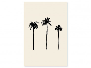 Tableau déco three black palm tree