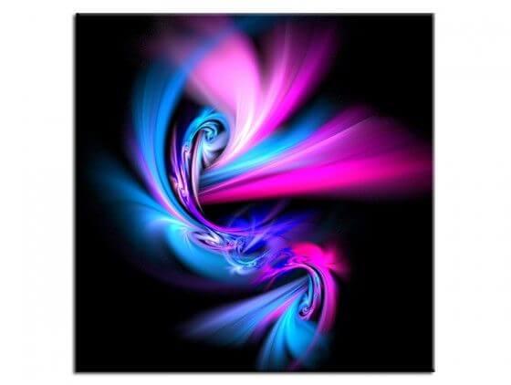 Tableau peinture abstrait design dancing ray
