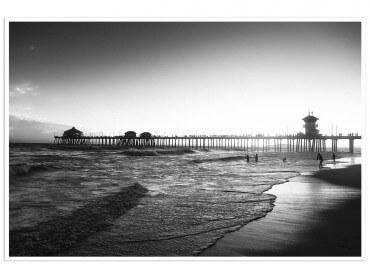 Affiche paysage sunset huntington beach