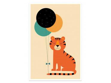 Affiche enfant circus tiger