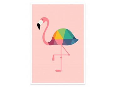 Affiche enfant flamingo so girly