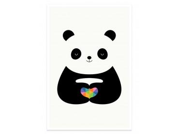 Affiche enfant love panda