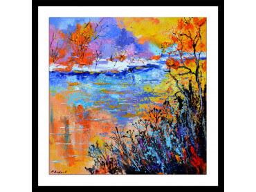 Affiche abstrait reflets d'eaux