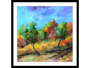 Affiche paysage trio vert