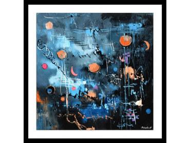 Affiche abstrait la nuit des étoiles