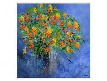 Affiche fleurs bouquet composé