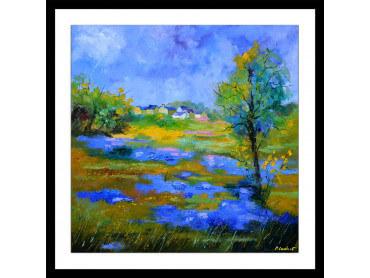 Affiche paysage flaque