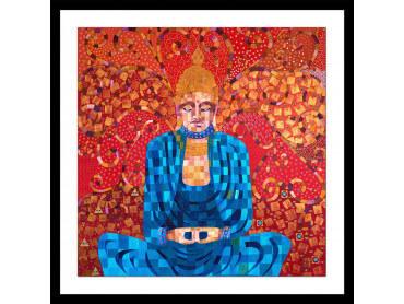 Affiche deco voyage en terre de bouddha