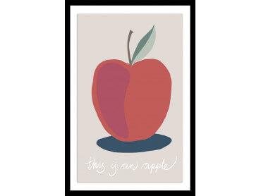 Affiche déco apple-pomme