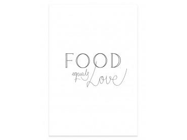 Affiche cuisine food love