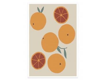 Affiche cuisine orange fraiche