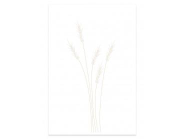 Affiche déco scandi blés