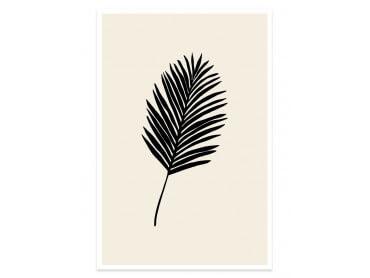 Affiche déco black palm