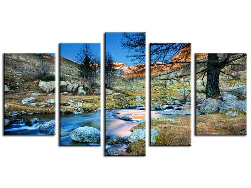 Tableau d coration murale paysages de montagne pas cher hexoa for Decoration murale photo