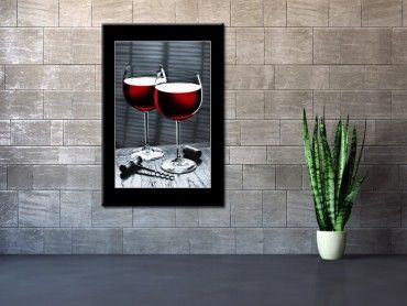 Tableau photographie verres de vin rouge