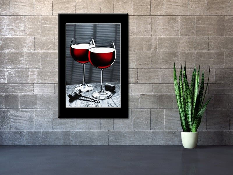 tableau photo verre de vin rouge sur toile plexi et alu. Black Bedroom Furniture Sets. Home Design Ideas