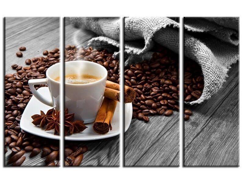 tableau cuisine tasse de caf pas cher d co murale moderne. Black Bedroom Furniture Sets. Home Design Ideas